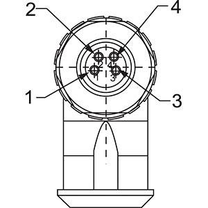 SAL M8x1, 4-pol, Stecker, gewinkelt CONEC 42-00027