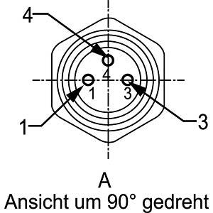 SAL M8x1, 3-pol, Einbaustecker CONEC 42-01032