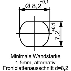 SAL M8x1, 4-pol, Einbaustecker CONEC 42-01033