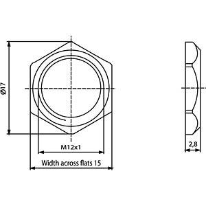 Sechskantmutter M12x1 CONEC 43-01716