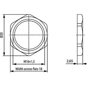Sechskantmutter M16x1,5 CONEC 43-01155