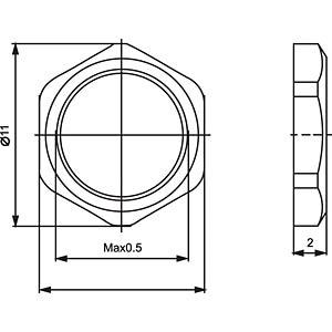 Sechskantmutter M8x0,5 CONEC 42-01046