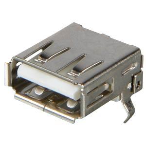 USB-Einbaubuchse, Serie A, gew., Printmontage FREI