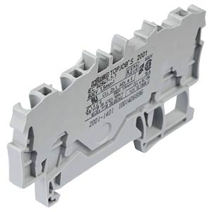 4-conductor feed-through terminal, 18 A 0.25 - 1.5 mm² grey WAGO 2001-1401