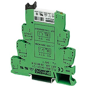 Basic terminal block, 1 changeover contact, 24 V DC PHOENIX-CONTACT 2966171