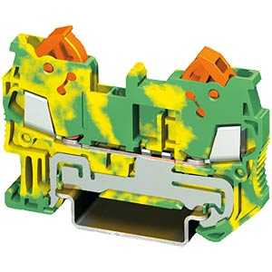 Feed-through terminal 0.5 - 2.5mm², green/yellow PHOENIX-CONTACT 32 06 43 2