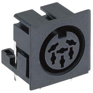 DIN-Einbaukupplung - 90°, 6-pol, für PCB LUMBERG 131773