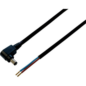 BKL 075170 - DC-Kabel Winkelstecker 2,5/5,5mm sw 0,3m