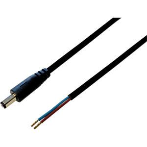 BKL 075174 - DC-Kabel Stecker 2,1/5,5mm sw 0,3m