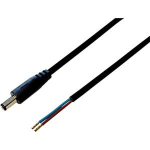BKL 075175 - DC-Kabel Stecker 2,1/5,5mm sw 0,5m