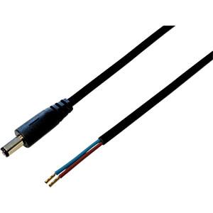 BKL 075178 - DC-Kabel Stecker 2,5/5,5mm sw 0,3m
