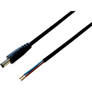 BKL 075180 - DC-Kabel Stecker 2,5/5,5mm sw 1,0m