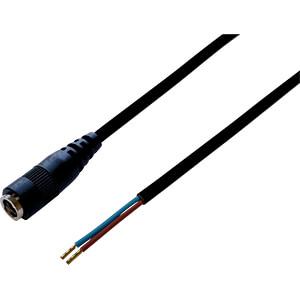 BKL 075186 - DC-Kabel Kupplung 2,5/5,5mm sw 0,3m