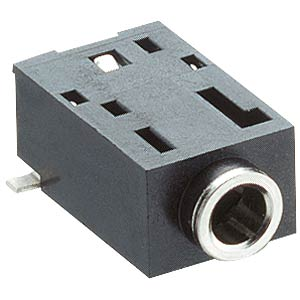 Jack panel socket, 2.5 mm, stereo, angled, 2 break contacts, SMD LUMBERG 1501 02
