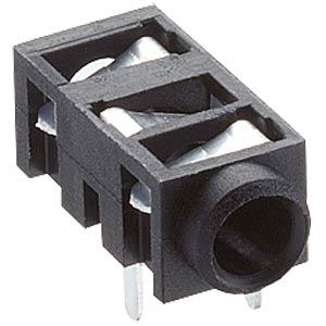 Klinkeneinbaubuchse, 2,5mm Stereo,gew.,PCB LUMBERG 1501 03