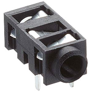 Jack panel socket, 2.5 mm, stereo, angled, PCB LUMBERG 1501 03