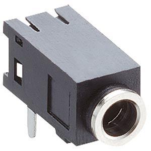 Klinkeneinbaubuchse, 2,5mm Stereo,gew.,PCB,M LUMBERG 1501 04