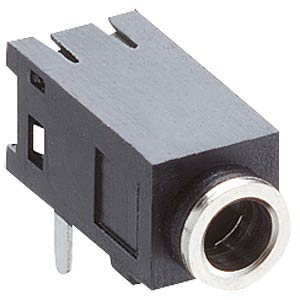 Jack panel socket, 2.5 mm, stereo, angled, PCB, M LUMBERG 10446