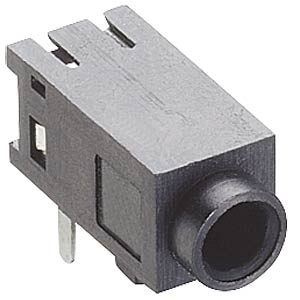 Jack panel socket, 2.5 mm, stereo, angled, PCB, K LUMBERG 1501 05