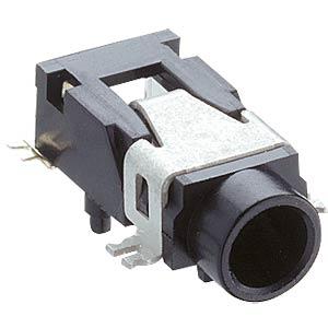 Jack panel socket, 3.5 mm, stereo, angled, PCB, SMD LUMBERG 1503 02