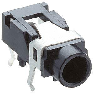 Jack panel socket, 3.5 mm, stereo, angled, PCB LUMBERG 1503 07
