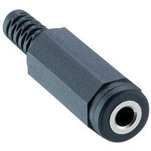 Klinkenkupplung 3,5 mm - Mono, Knickschutz LUMBERG 1522 02