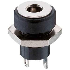 Panel-mounted coupler, front mounting, pin Ø 1.3 mm LUMBERG 1614 17