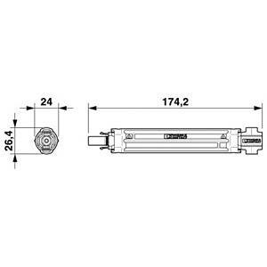 Photovoltaik Sicherungsstecker SUNCLIX, 12 A, Power-Out PHOENIX-CONTACT 1622155