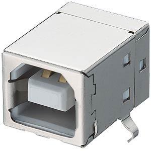 USB-Einbaukupplung, Typ B, gew., PCB LUMBERG 2411 02