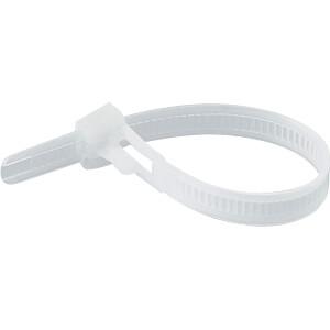 Kabelbinder, wiederlösbar, 200 mm, natur, 100er-Pack RND CABLE RND 475-00416