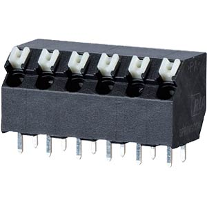 spring terminal, solderable, 4-pole, RM 5,00 RIA CONNECT AST2350402