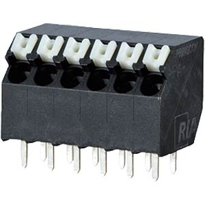 spring terminal, solderable, 6-pole, RM 3,5 RIA CONNECT AST2330602