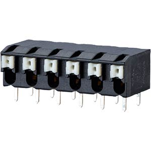 spring terminal, solderable, 2-pole, RM 5,00 RIA CONNECT AST2250202