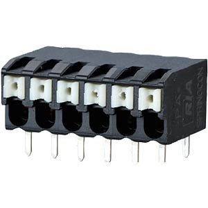 spring terminal, solderable, 6-pole, RM 3,5 RIA CONNECT AST2230602