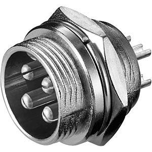 Mikrofon-Einbaustecker f. Funkgeräte, 4-polig FREI