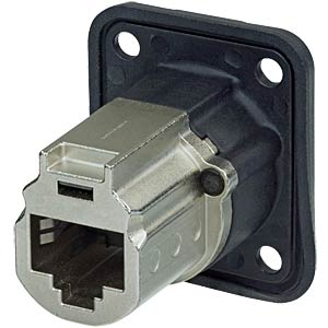 CAT6A panel connector, shielded,nickel NEUTRIK NE8FDX-P6-W