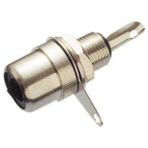 RCA connector, installation, metal FREI
