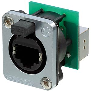 RJ45 feedthrough receptacle NEUTRIK NE8FDP-SE