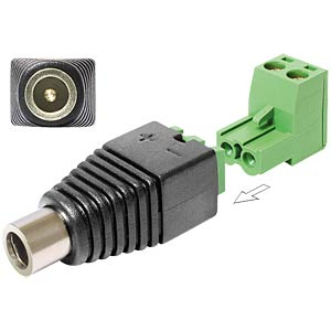 DC 2.1 x 5.5 mm socket > 2-pin terminal block, 2-part DELOCK 65423