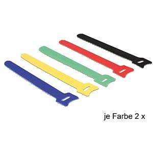 Velcro cable ties, 150x12 mm, pack of 10