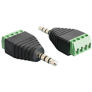 Jack plug 3.5 mm > 4-pin terminal block
