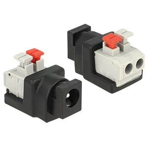 DC 5.5 x 2.1 mm socket > 2-pin terminal block DELOCK 65524