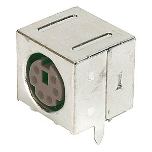4-pin mini-DIN socket, fully shielded FREI
