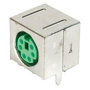 6-pol. Mini-DIN-Buchse, grün, geschirmt FREI