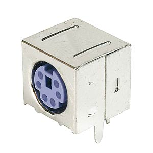 6-pin mini-DIN socket, purple, shielded FREI