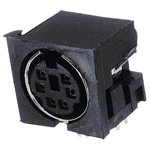MINI-DIN PCB socket, 6-pin FREI