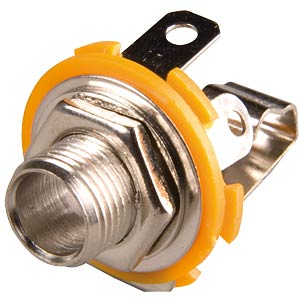 Jack socket, 6.3 mm mono, central mounting FREI