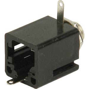 Jack socket, 6.3 mm mono, closed