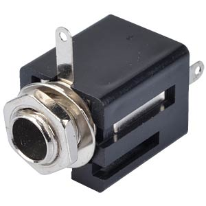 Jack socket, 6.3 mm stereo, closed