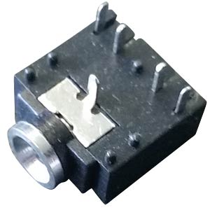 Jack socket, 3.5 mm, PCB, without thread
